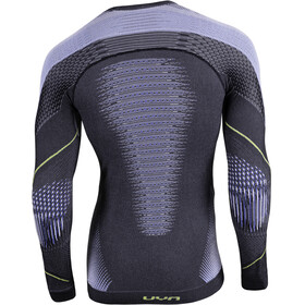 UYN Evolutyon Melange UW T-shirt à manches longues Homme, anthracite melange/blue/yellow shiny